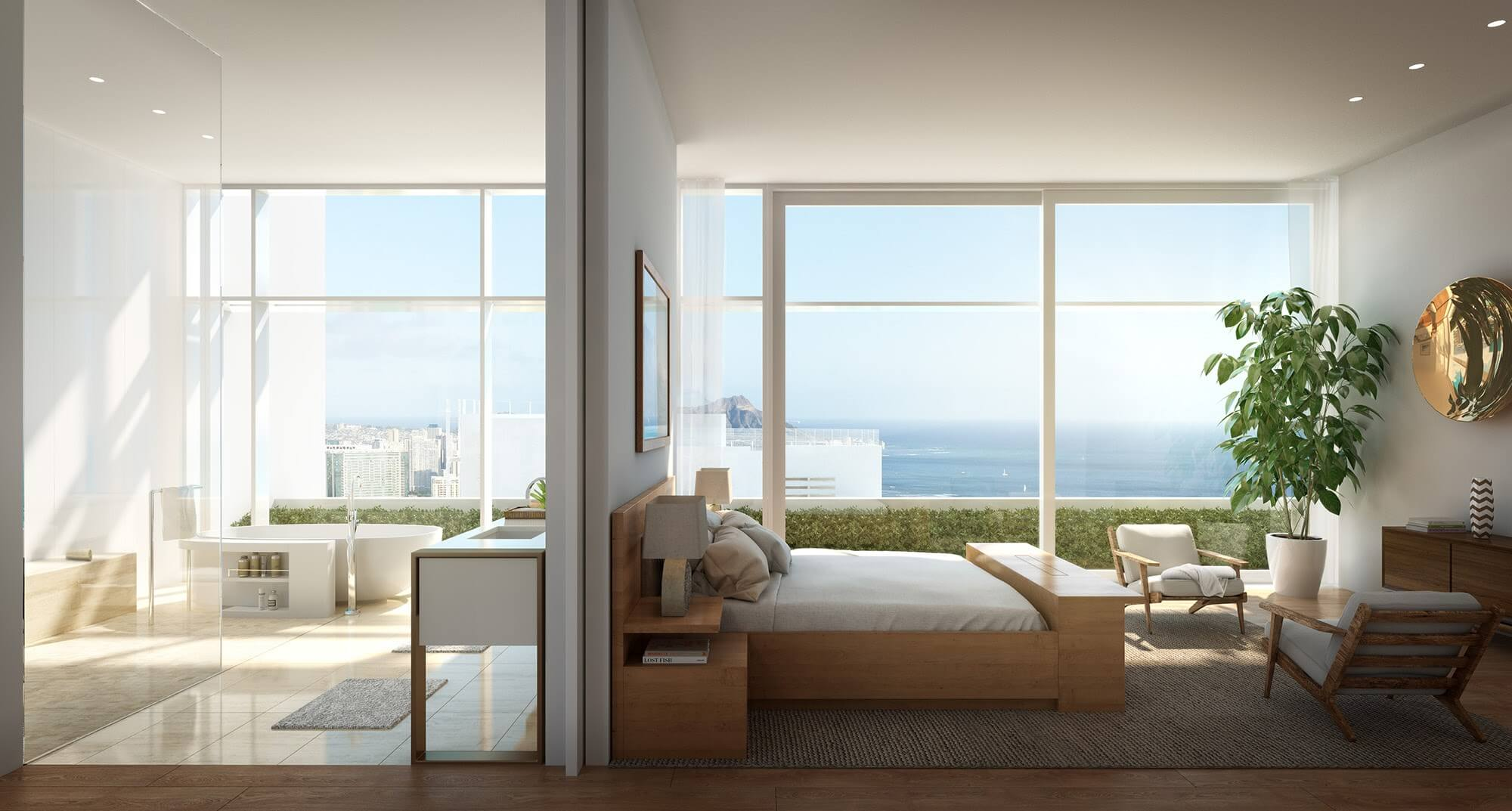 Howard-Hughes_Ward-Gateway_Luxury-Penthouse-Bedroom